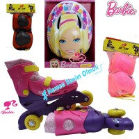 Barbie Paten Barbie Kask Dizlik Dirseklik Set