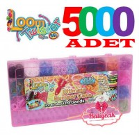 Loom Twister Bands Set Extra Large 5000 Parça